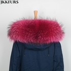 Lining 75cm Real Raccoon Fur Collars Parka/Jackets Hood Natural Fur Scarf Hooks Raccoon Hood Trims S1692