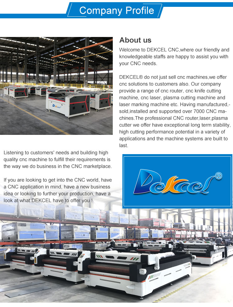 DEKCEL 1390 80W CO2 Laser Cutting Machine / Laser Engraving Machine Made in China