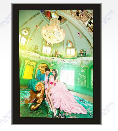 LED advertising crystal magnetic light box acrylic picture frame