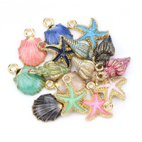 15 PC A+ Fashion Metal Alloy Ocean Shell Christmas Charm Decor Set Pendant Drop Ornaments Hanging DIY Decoration