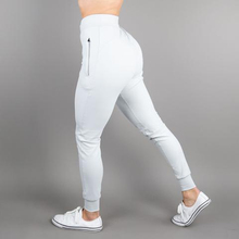 Light Grey Tapered Fit Vrouwen Sport <span class=keywords><strong>Broek</strong></span> Gedrukt Running Joggers