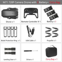 Teeggi M71 RC Drone с 4K HD камерой, складной мини-Квадрокоптер, Wi-Fi FPV Селфи, игрушечные Дроны для детей против SG106 SG107 E68 E58(China)
