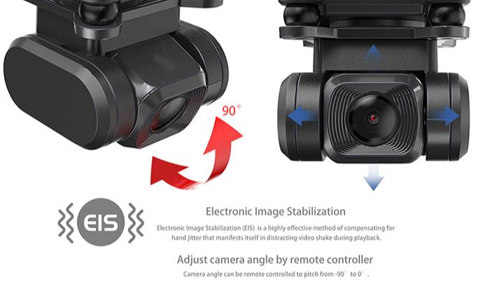 Mjx Bugs B20 Eis Stabilisasi Gambar Elektronik 5G Wifi Memiringkan Gimbal Kamera Jarak Jauh Profesional Brushless Gps 4K drone