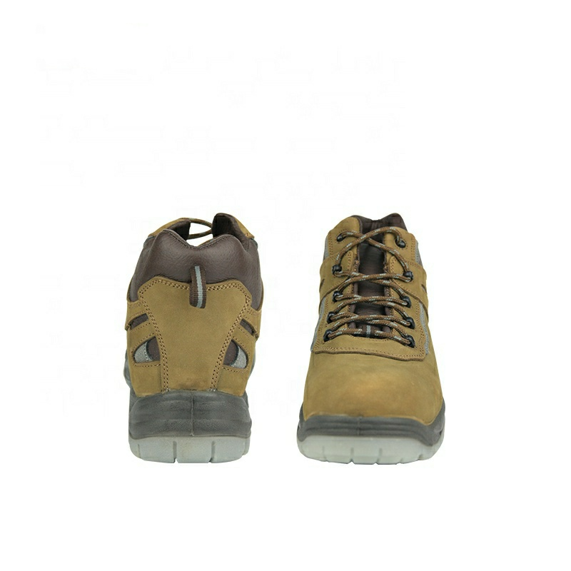 CE Casual Genuine Leather Men Working Steel Toecap Protect Safety Shoes For Women