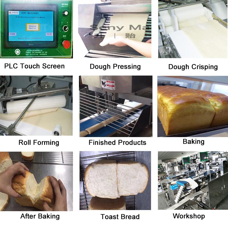 Industriële automatische toast brood making machine
