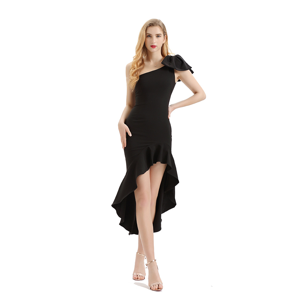 2019 Elegant fashion clothing wholesale <strong>women</strong> spanish one shoulder evening <strong>western</strong> <strong>dress</strong>