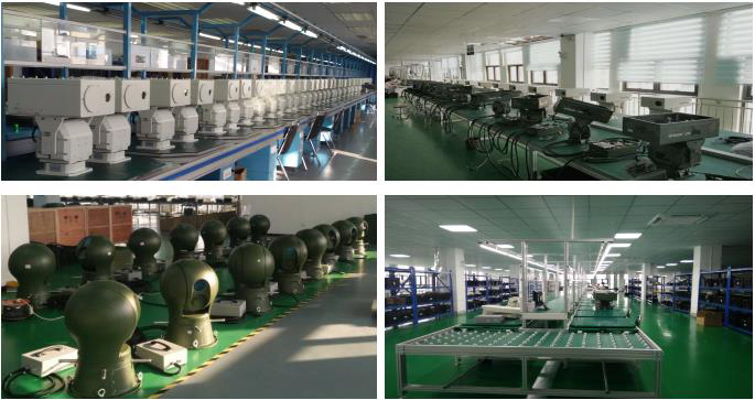 DFCB101 white green  NV camera  customized color High-speed Ball Pan tilt Thermal and Visible  Camera System