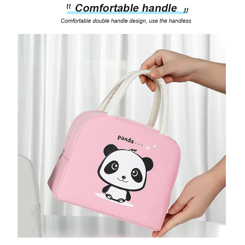 product-GF bags-tue cartoon lunch bag for women new pink panda girl hand cooler bags portable therma-1