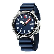 Ben Nevis Топ Бренд Rolexable мужские часы спортивные силиконовые часы военные водонепроницаемые мужские кварцевые наручные часы темно-синие модны...(Китай)