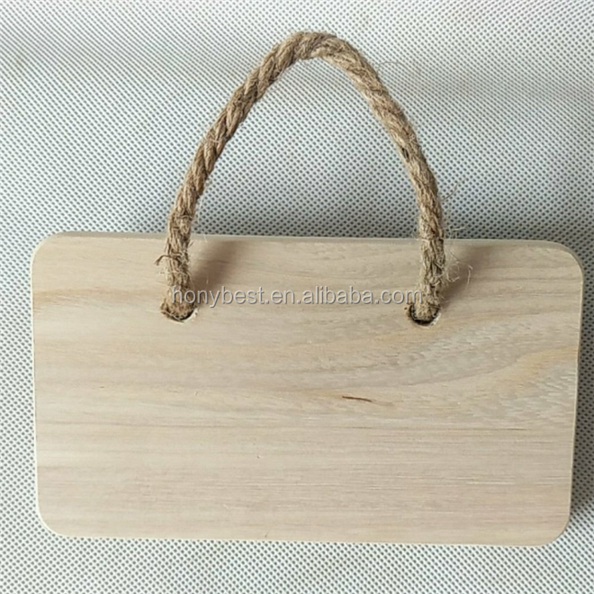 Rustic Wooden Wall Craft Decoration Sign Board Blank Plaque for Shop,Home and Office