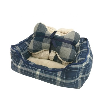 Deluxe soft pet bed Bed Raised Plush Felt Small Round Luxury Egg Dog Pet Bed
