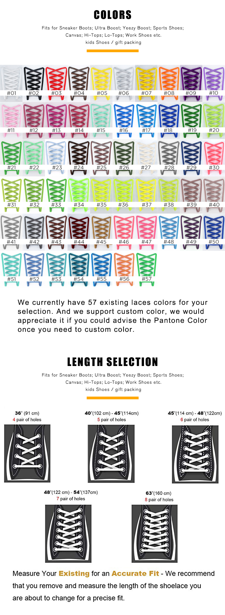 iRun 6mm 100% Polyester Eco-friendly Oval Sports Sneakers Shoelaces with branded paper wrapper 57 existing colors