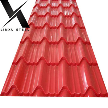 Steel Roof Ppgi Color Coated Corrugated Painted Roofing Sheet Metal
