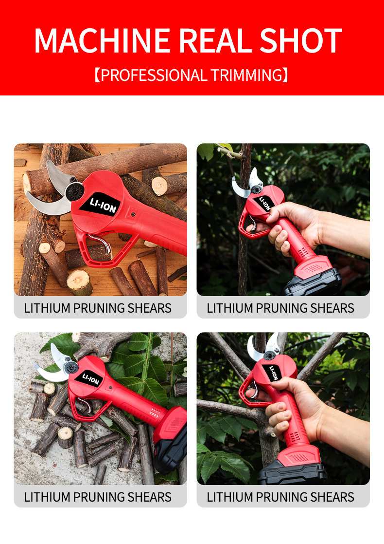Electric Tree Pruning Scissors Rechargeable Powerful Garden Thick Branch Shears