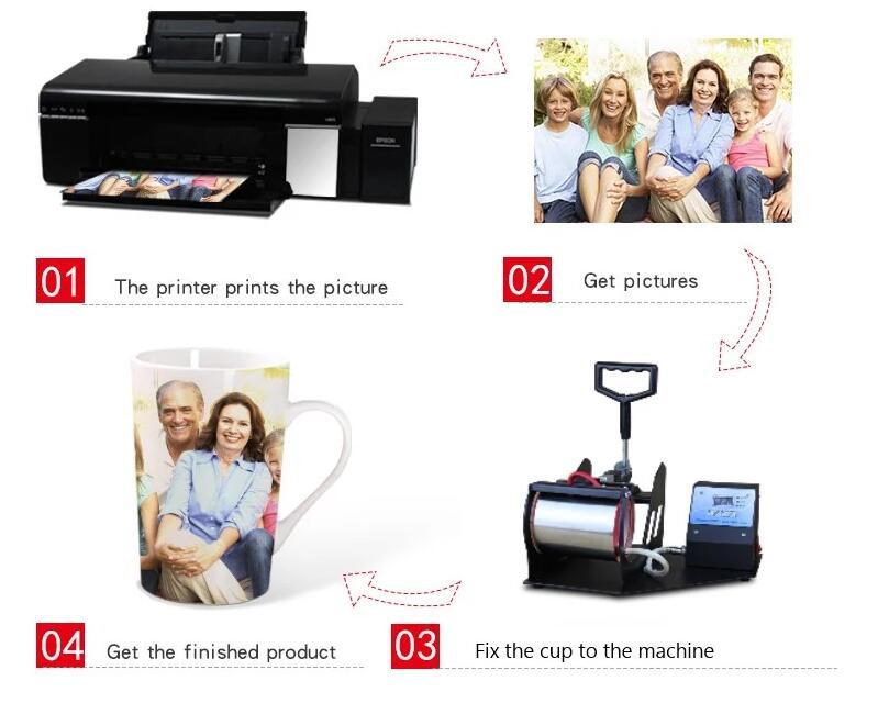 China Bom Fornecedor Fabricante de impressão caneca sublimação máquina da imprensa do calor