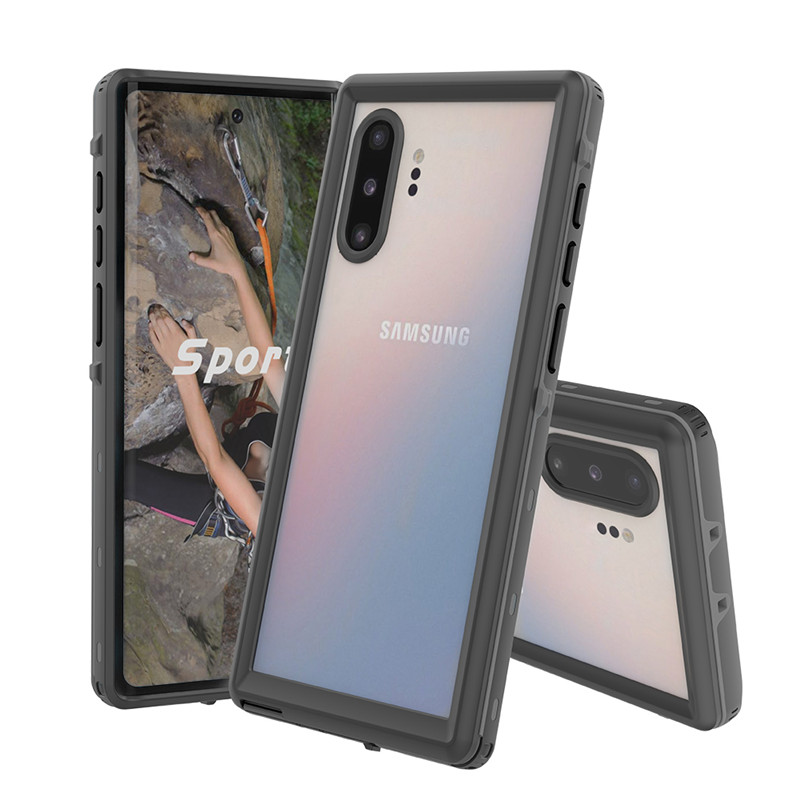 Super Luxury High Quality IP68 Level Clear Dot Waterproof Cell Phone Case for Samsung Galaxy Note 10 Note 10 Pro
