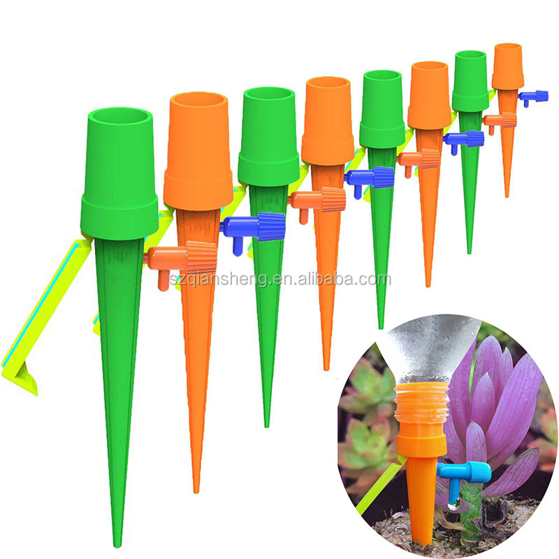 6pcs Auto Drip Irrigation Watering System Automatic Watering Spike