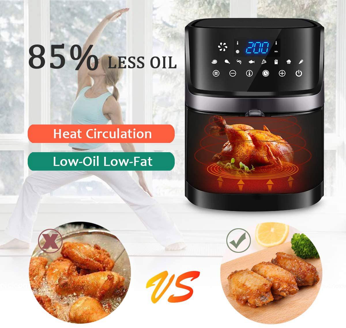 1.5L 2,6 3.2L 5,2 5.5L 7L покупателей лучшим аэрофритюрница для приготовления блюд без горячый мини-стойки воздуха фритюрница без масла как видно по воздуха фритюрница без масла