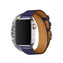 Кожаный ремешок для часов Apple Watch Series 5, 4, 40, 44 мм, 38, 42 мм, 3, 2, 1(Китай)