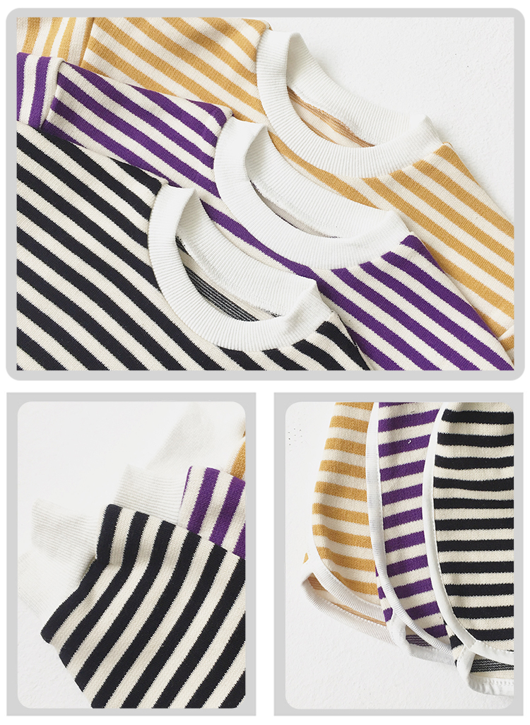 Children's boutique clothing sets striped cotton baby comfort suit baby clothing set 2440