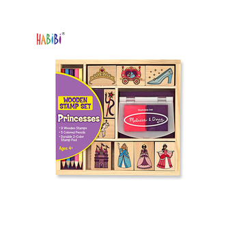 Wholesale Wooden Rubber Ink Diy Drawing Stamp Toy Round Custom Wooden Rubber Stamp