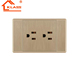 Free sample double 3pin socket outlet 13a wall switch 220v switch and socket