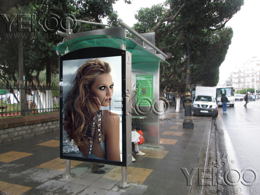 product-YEROO-2020 Customized Advertising Bus Stop Solar Energy Bus Shelter-img-2