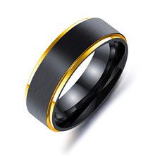 Новые цветные кольца из титана и стали для женщин пара обручальных колец мужские персонализированные ювелирные кольца любовник Золотое ко...(Китай)