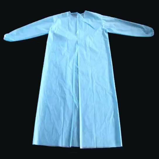 使い捨て保護服、 pp 医療分離ガウン弾性とニット袖口