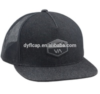 Manufacturer Custom Flat Jean Mesh Trucker Woven Patch Sports Hat