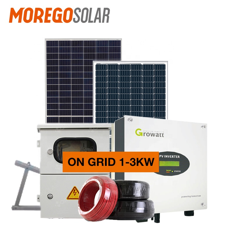 Moregosolar on-grid solar system 10KW 20kw 30kw 50KW 100KW Hot sell On Grid energy electric Solar Power Panel System Use
