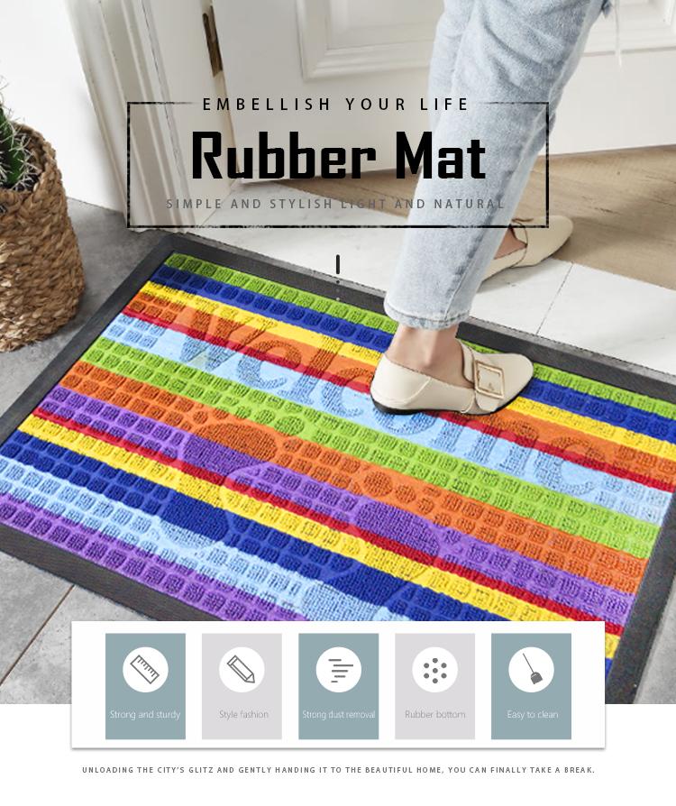 Anti-slip heavy duty outdoor impermeabile pavimento naturale di gomma porta mat