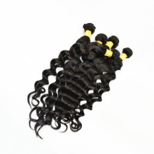 หนา Deep Wave 11A Unprocessed Deep Wave Brazilian Hair Extensions 8-30 นิ้ว Deep Wave บราซิล Virgin Hair Bundle ข้อเสนอ