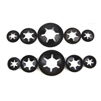 Steel black internal tooth plain surface treatment spring six lock star washer