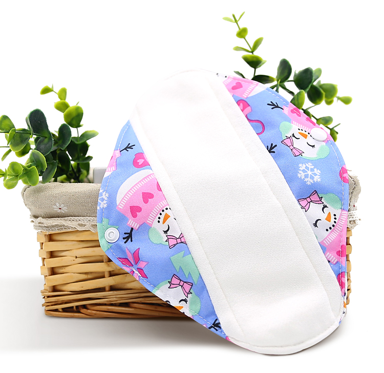Washable woman menstrual pad, reusable sanitary pads, Natural material bamboo charcoal pads