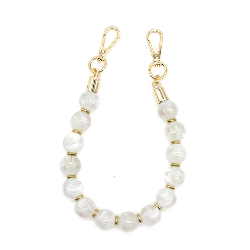 Custom white acrylic women luxury handbag shoulder strap bag parts accessories chains