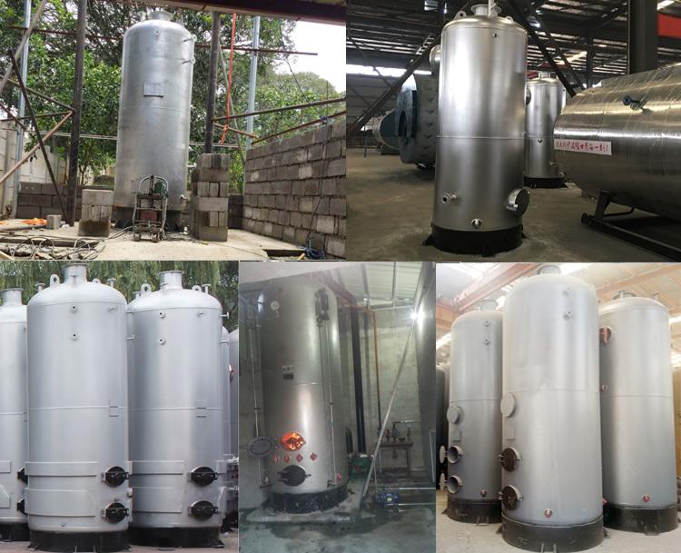 LSG small vertical coal wood firewood biomass pellet fired steam boiler price