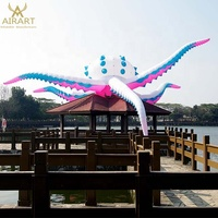 Building roof decoration giant inflatable octopus for inflatable octopus kite