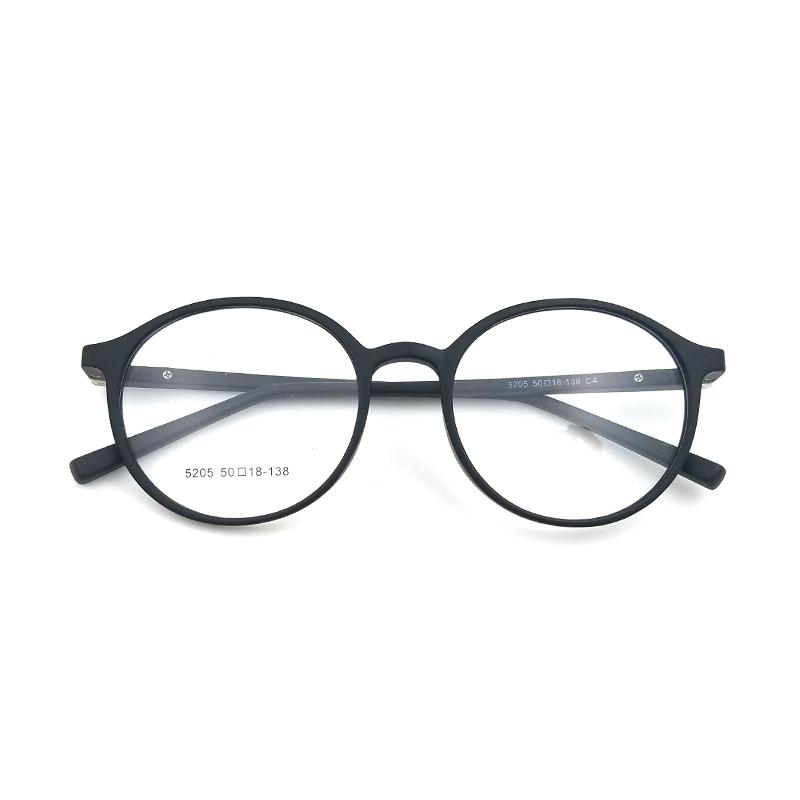 준비 재고 고품질 남여 여자 남자 tr90 라운드 전체 안경 프레임 도매
