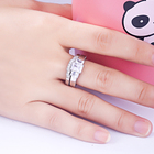 Cubic Zircon Ring Set Wedding Ring Set Cheap Price Luxury Beautiful Cubic Zircon Women Jewelry 925 Sliver Western Wedding Ring Set
