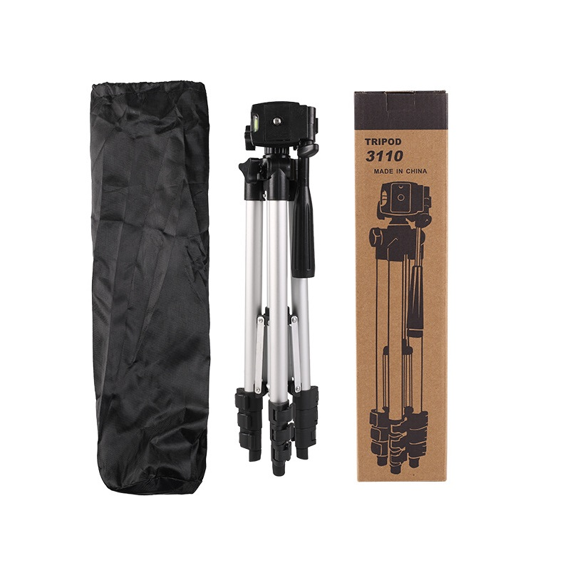 Portable 3110 Aluminum Alloy Camera Tripod Monopod with 3-Way Swivel Pan Head Carrying Bag for Sony/Canon
