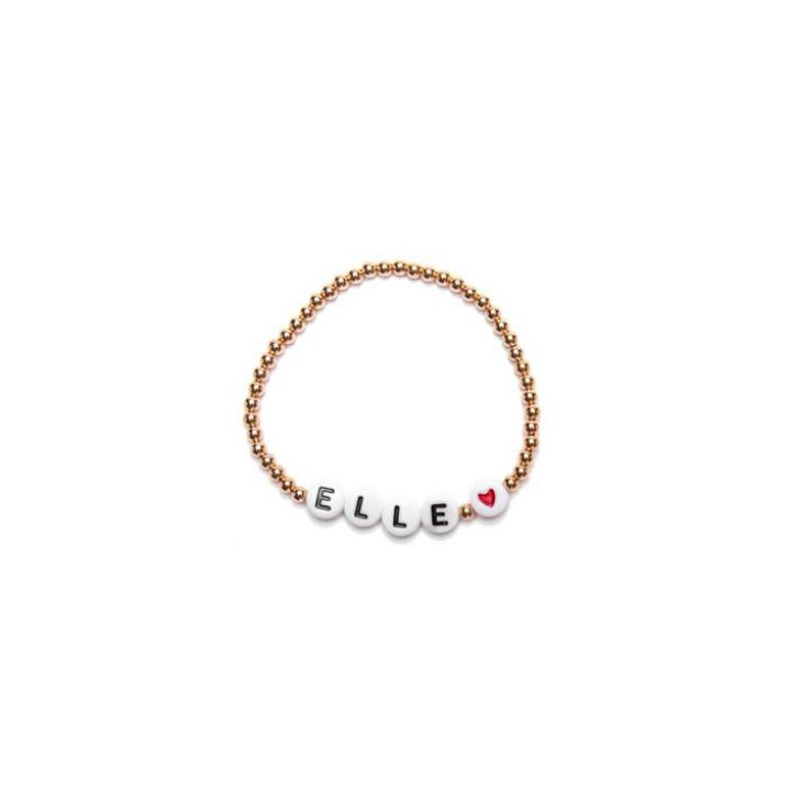 Product Promotional Fashion Letter Beads Elastic Bracelet Custom Child Name Bracelet Ball Chain Colorful Letter Bracelet Gifts