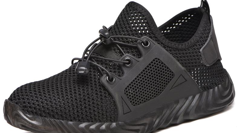 Модные уличные мужские кроссовки на искусственной кожаной подошве, безопасные спортивные сетчатые ботинки со стальным носком, Мужские дышащие защитные ботинки для мужчин