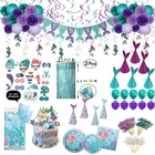New Products Wholesale Different Theme Sets Mermaid Supplies Kids Birthday Party Decorations