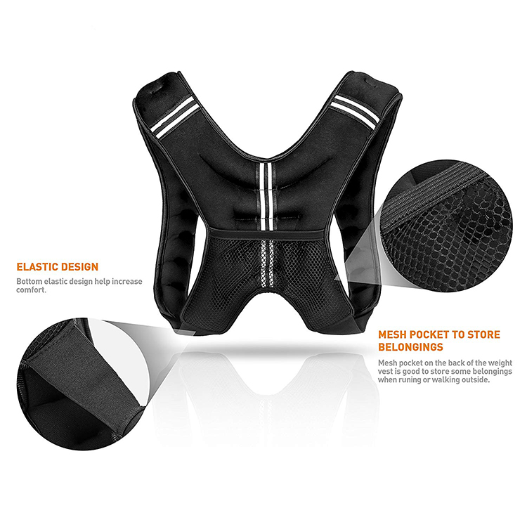 Adjustable Fill Iron Sand Weight Vest Training Plate