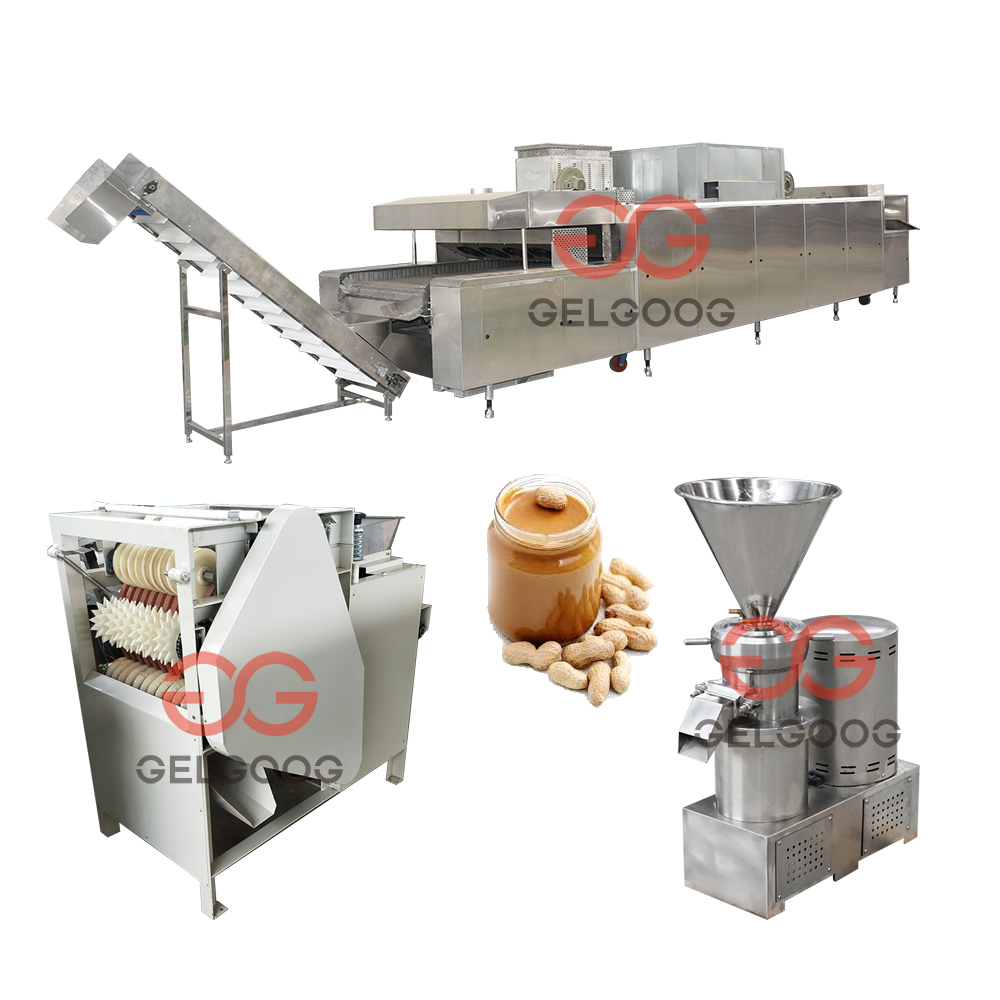 2017 Full Set Continuous Small Scale Groundnut Paste Processing Plant Sesame Tahini Making Machine Peanut Butter Production Line