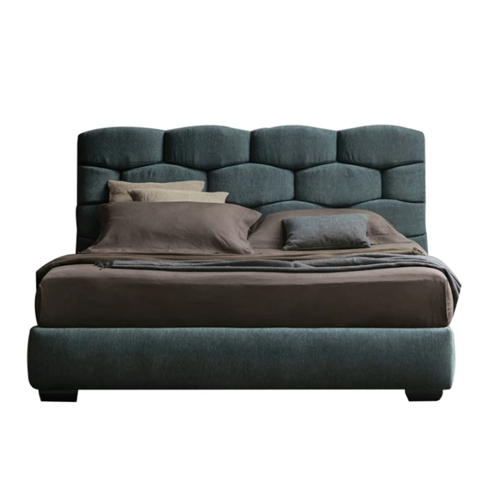 Luxury Modern Double Bed With Upholstered Headboard new bedroom furniture