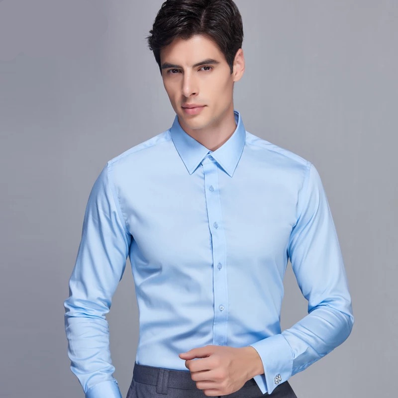 Oem service Color optional casual 100% cotton long sleeve wholesale shirts for men