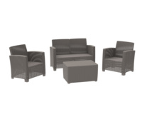 khaki color lounge sofa Sectional Garden leisure Furniture Sofa Set With square Table _No.136B