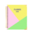 Beautiful 2020 golden hot stamping calendar organizer planner notebook with gift box